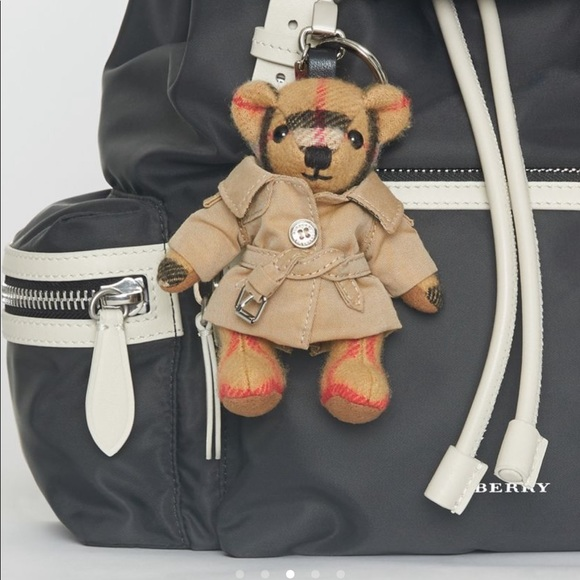 Key chain Thomas Bear Charm in Trench Coat